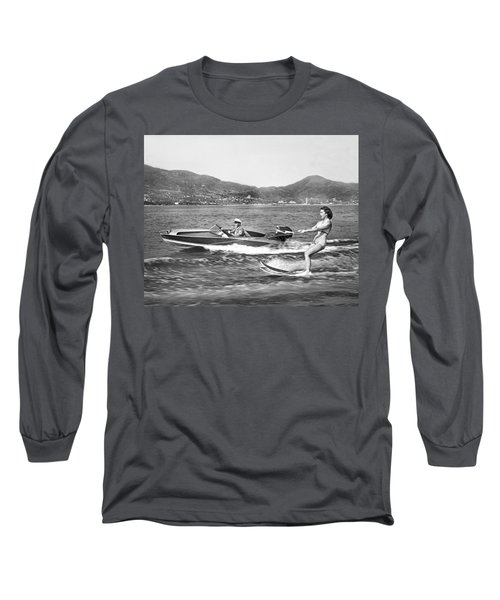 Water Skiing In Acapulco Long Sleeve T-Shirt