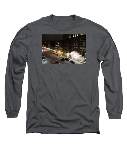 Long Sleeve T-Shirt featuring the digital art Water Street Looking South From The Marshall Building by David Blank