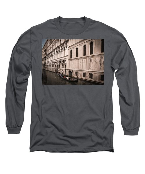 Long Sleeve T-Shirt featuring the photograph Water Taxi In Venice by Kathleen Scanlan