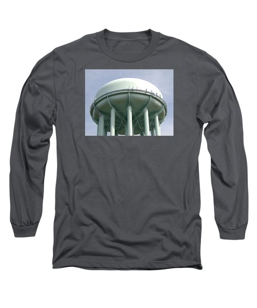 Water Tower Long Sleeve T-Shirt by  Newwwman
