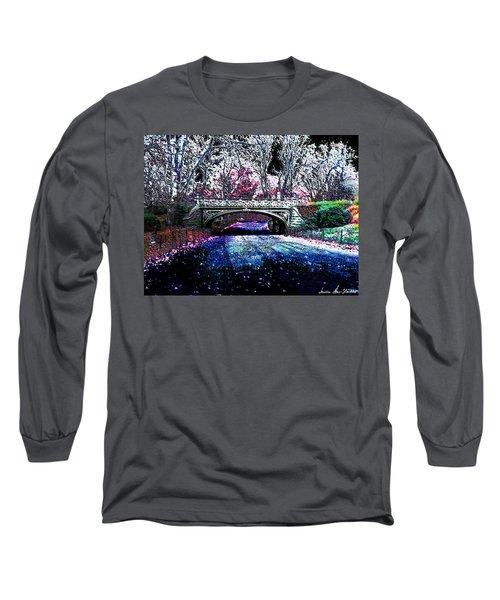 Water Under The Bridge Long Sleeve T-Shirt by Iowan Stone-Flowers