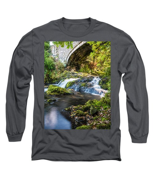 Long Sleeve T-Shirt featuring the photograph Water Under The Bridge by Nick Bywater