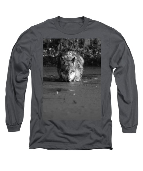Water Wolf I Long Sleeve T-Shirt by Shari Jardina