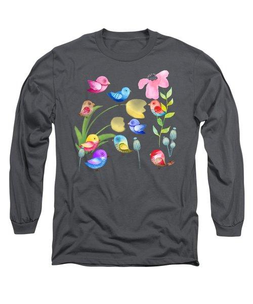 Watercolor Garden Party Long Sleeve T-Shirt
