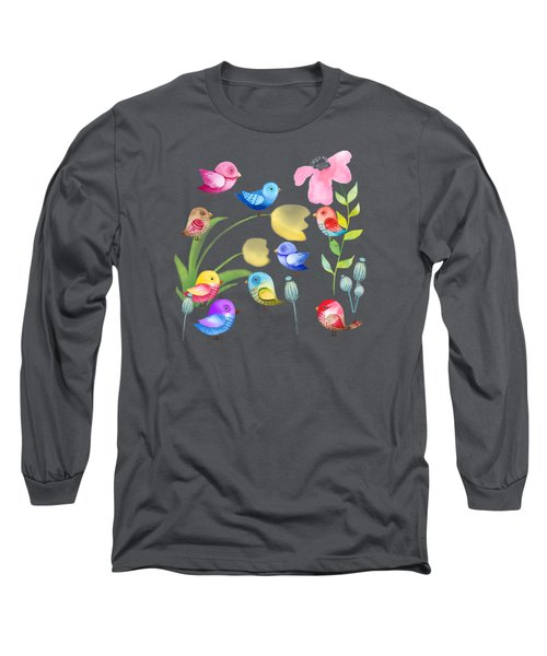 Watercolor Garden Party Long Sleeve T-Shirt