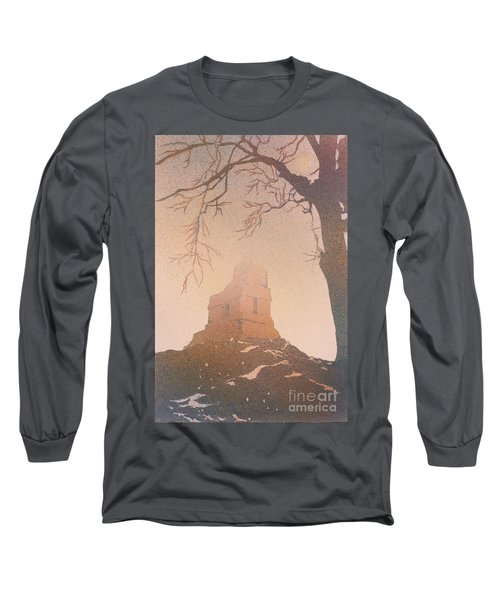 Long Sleeve T-Shirt featuring the painting Watercolor Painting Of Mayan Temple- Tikal, Guatemala by Ryan Fox