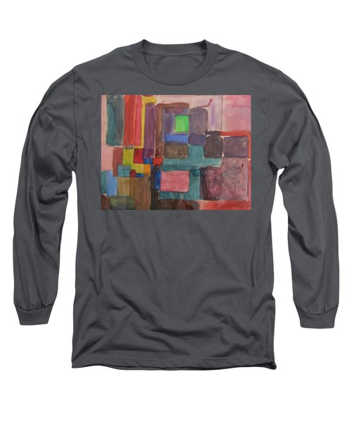 Watercolor Shapes Long Sleeve T-Shirt by Barbara Yearty