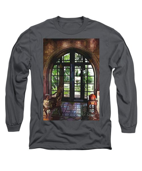 Watercolor View To The Past Long Sleeve T-Shirt by Susan Molnar