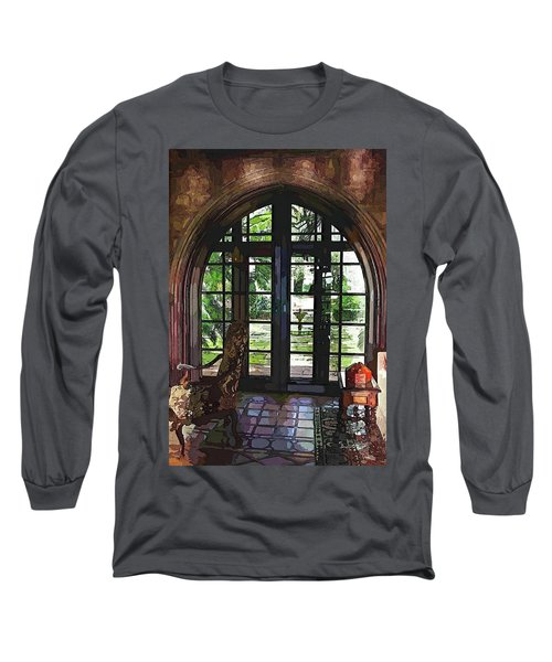 Watercolor View To The Past Long Sleeve T-Shirt