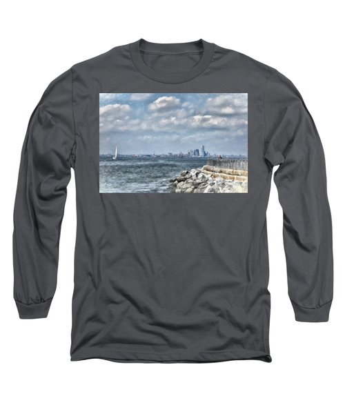 Watercolor Views Long Sleeve T-Shirt by Terry Cork
