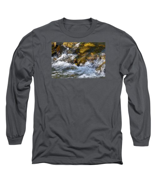 Long Sleeve T-Shirt featuring the photograph Watercourse by Jean Bernard Roussilhe