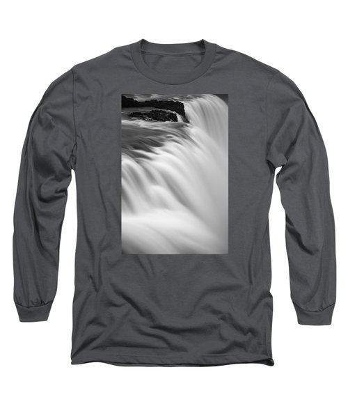 Long Sleeve T-Shirt featuring the photograph Waterfall by Chris McKenna