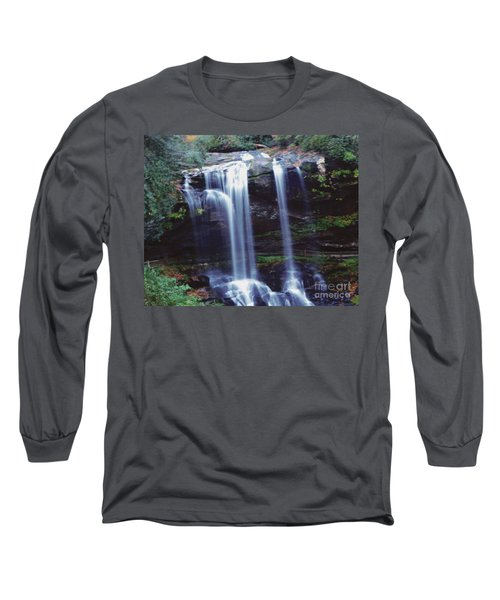 Long Sleeve T-Shirt featuring the photograph Waterfall  by Debra Crank