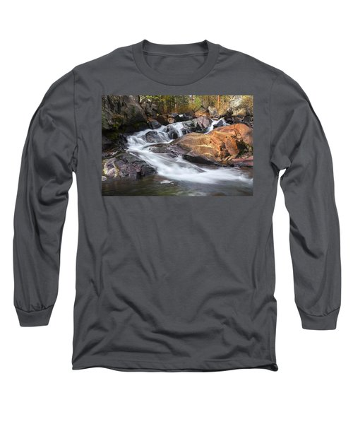 Waterfall In Lee Vining Canyon 2 Long Sleeve T-Shirt