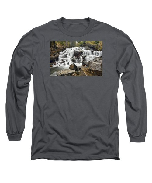 Waterfall In Lee Vining Canyon Long Sleeve T-Shirt
