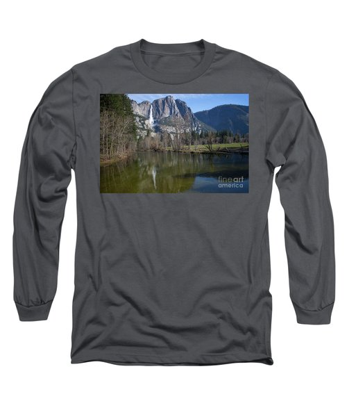 Waterfall Reflection Color Long Sleeve T-Shirt