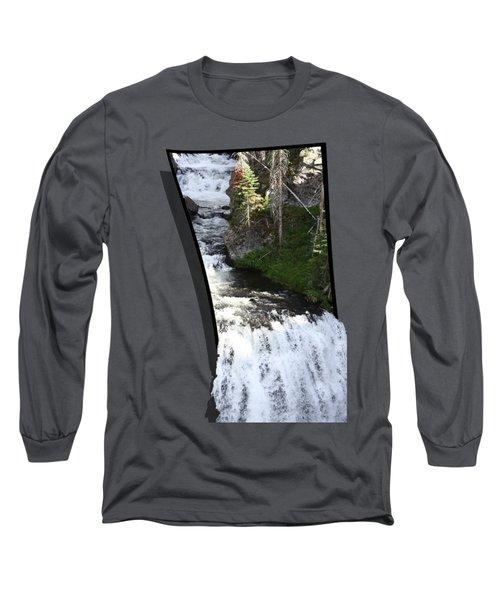 Waterfall Long Sleeve T-Shirt by Shane Bechler