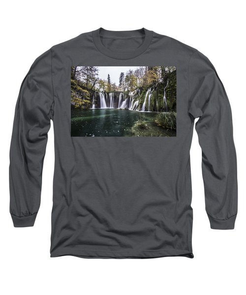 Waterfalls In Croatia Long Sleeve T-Shirt