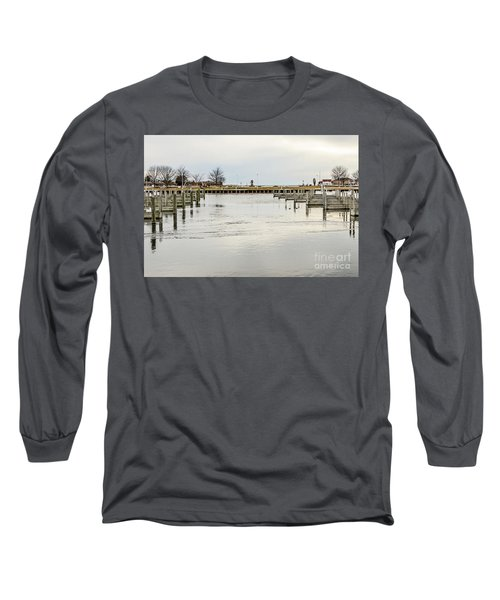 Waterfront Park In Ludington, Michigan Long Sleeve T-Shirt
