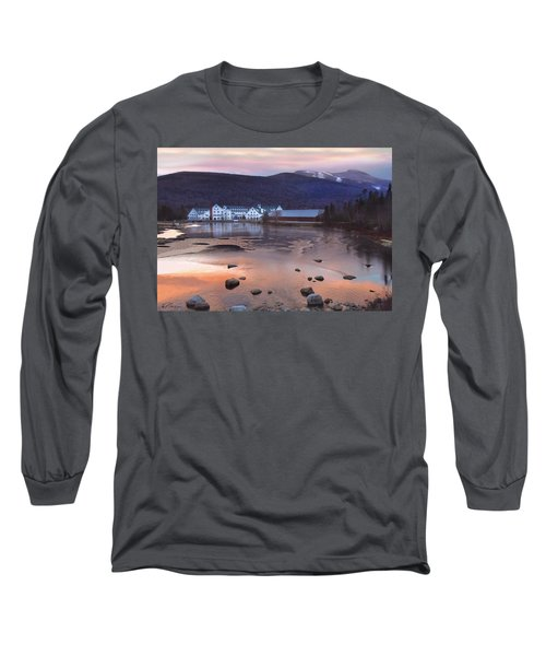 Waterville Valley Sunset Long Sleeve T-Shirt by Nancy Griswold