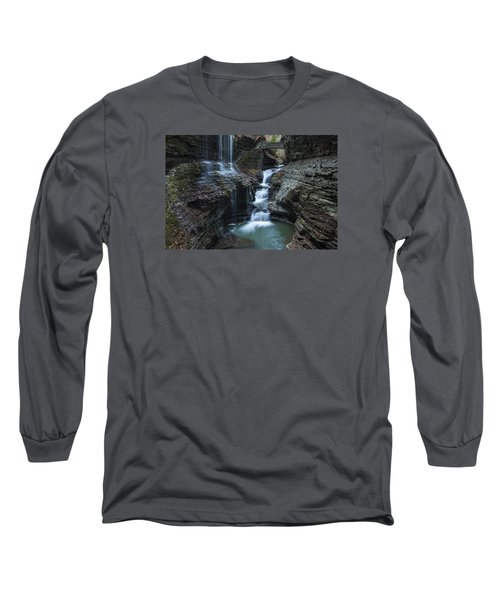 Watkins Glen Rainbow Falls Long Sleeve T-Shirt