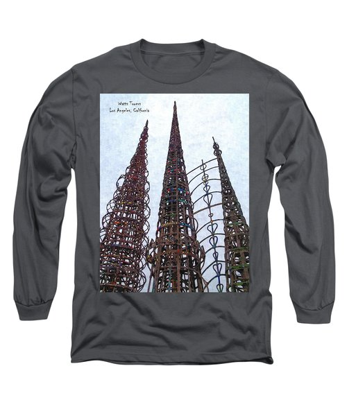 Long Sleeve T-Shirt featuring the photograph Watts Towers 2 - Los Angeles by Glenn McCarthy Art and Photography