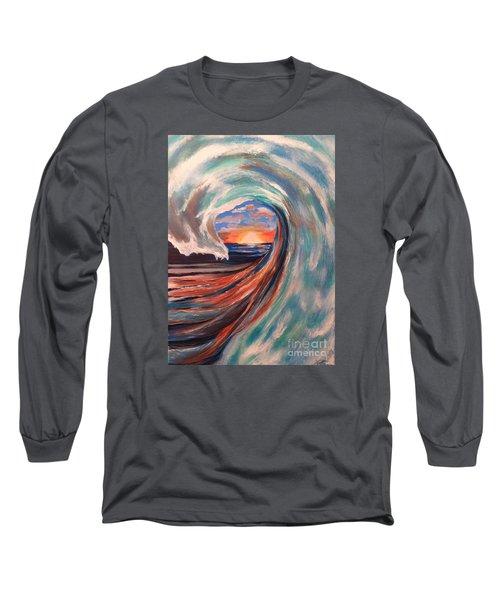 Wave Long Sleeve T-Shirt by Denise Tomasura