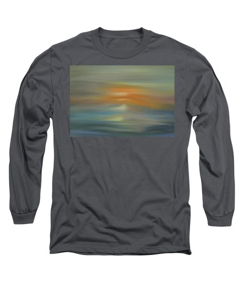 Wave Swept Sunset Long Sleeve T-Shirt by Dan Sproul
