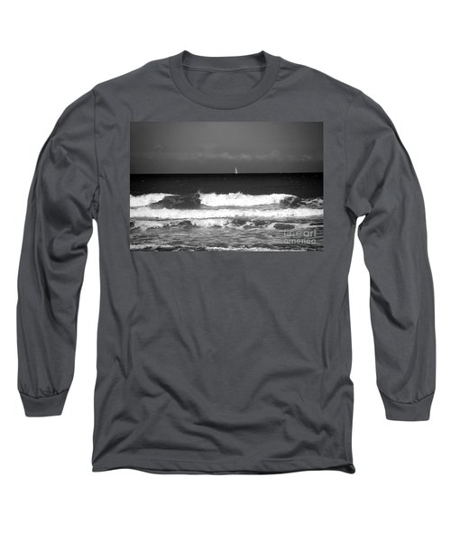 Waves 4 In Bw Long Sleeve T-Shirt