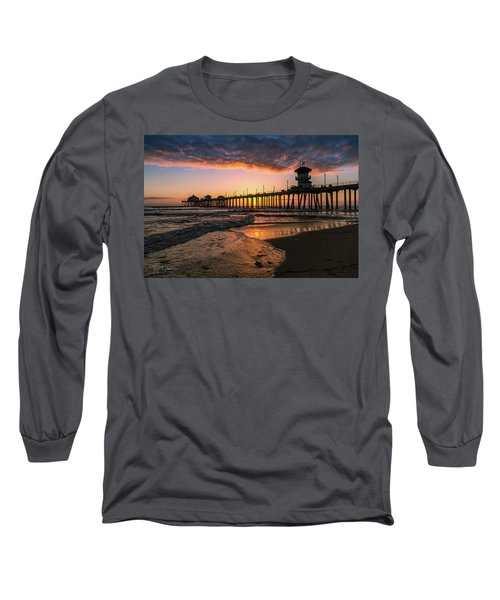 Waves At Sunset Long Sleeve T-Shirt