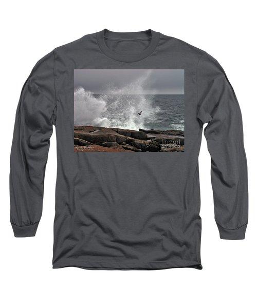 Waves Crashing  Long Sleeve T-Shirt