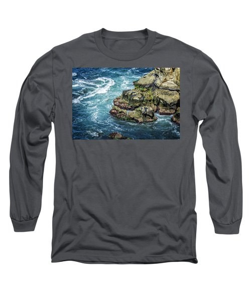 Waves Of Blue Long Sleeve T-Shirt