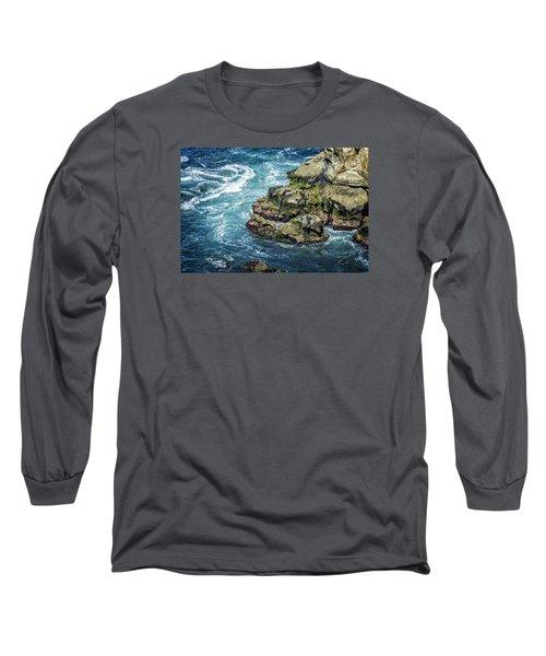 Waves Of Blue Long Sleeve T-Shirt