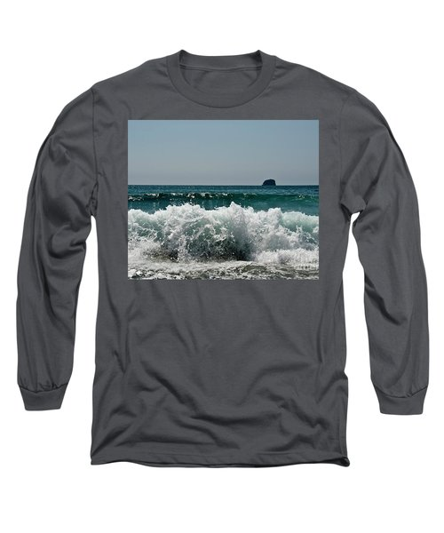 Waves Of Pacific Ocean. Coromandel,new Zealand Long Sleeve T-Shirt by Yurix Sardinelly