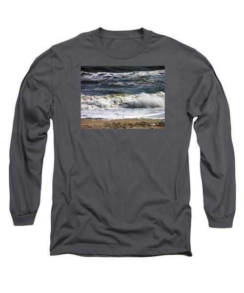 Waves, Waves, Waves Long Sleeve T-Shirt