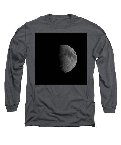 Waxing Gibbous Moon Long Sleeve T-Shirt by Ernie Echols