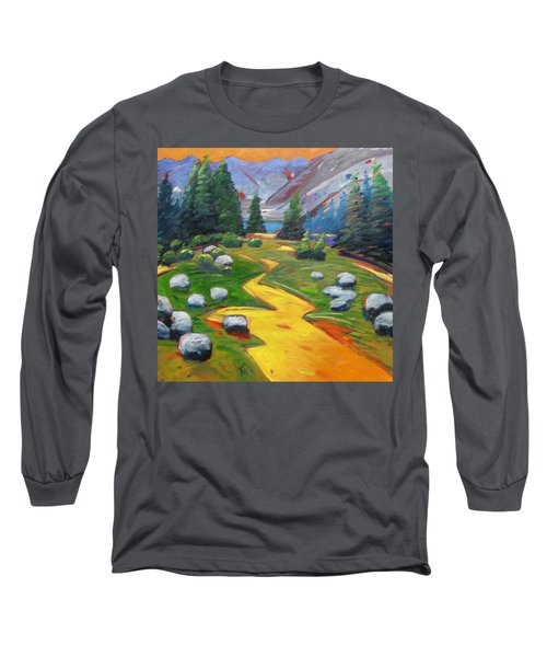 Way To The Lake Long Sleeve T-Shirt by Gary Coleman