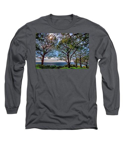 Long Sleeve T-Shirt featuring the photograph Wayfarer's  Ocean View by Joseph Hollingsworth