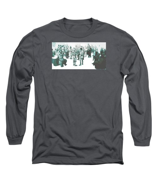 We Don't Serve Their Kind Here Long Sleeve T-Shirt by Kurt Ramschissel