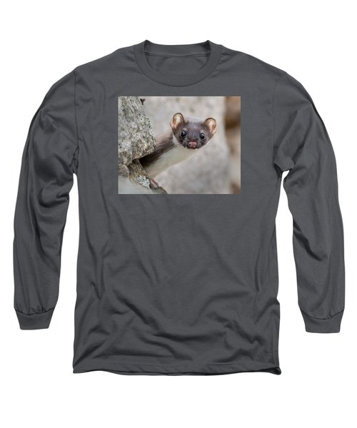 Weasel Peek-a-boo Long Sleeve T-Shirt