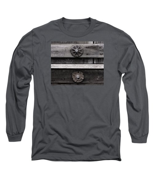 Weathered Wood And Metal Five Long Sleeve T-Shirt
