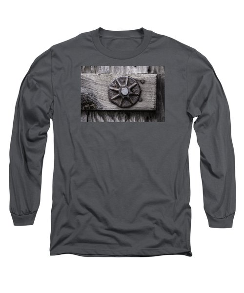 Weathered Wood And Metal One Long Sleeve T-Shirt