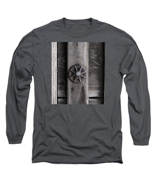 Weathered Wood And Metal Three Long Sleeve T-Shirt