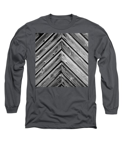 Weathered Wood Long Sleeve T-Shirt by Larry Carr