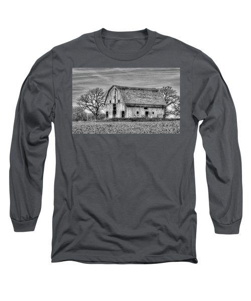 Weathered Wood Of Iowa Long Sleeve T-Shirt