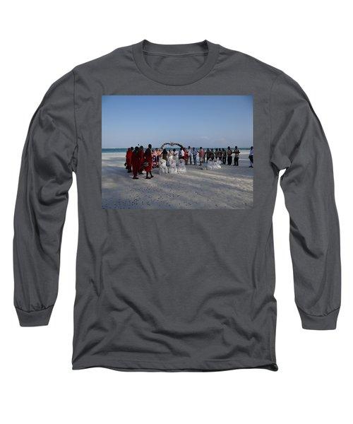 wedding with Maasai singers Long Sleeve T-Shirt