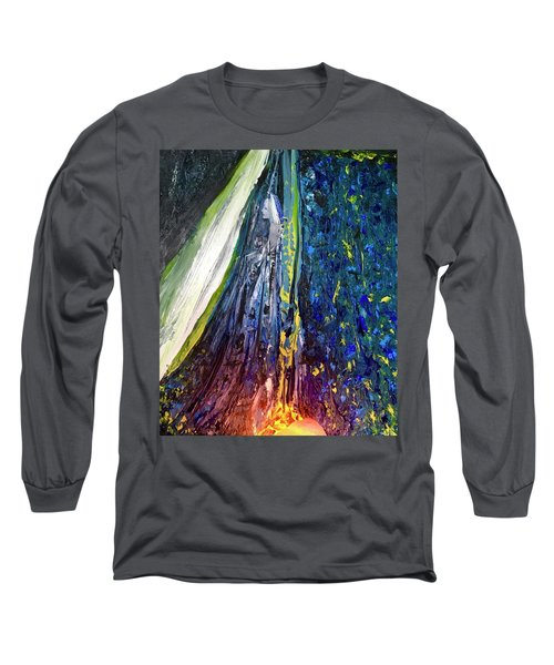 Long Sleeve T-Shirt featuring the painting Wednesday Turned Into Thursday by Kicking Bear Productions
