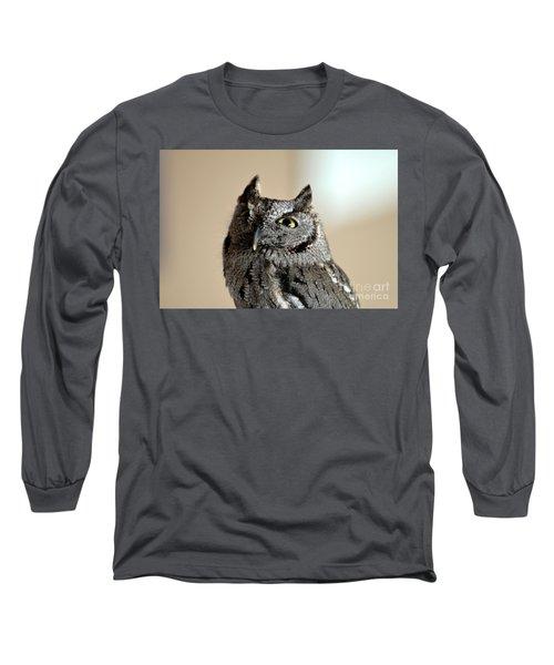 Wee Western Screech Owl Long Sleeve T-Shirt