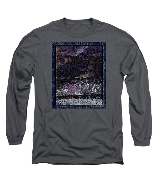 Weekly Market In The Hill In The Evening Long Sleeve T-Shirt