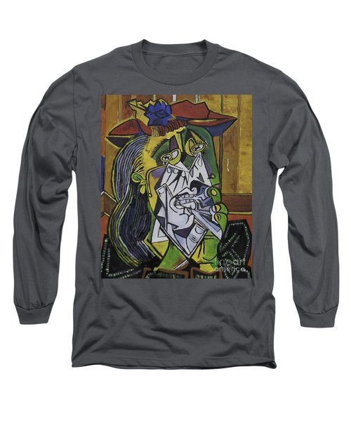 Picasso's Weeping Woman Long Sleeve T-Shirt